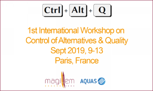 1st International Workshop on Control of Alternatives and Quality (Ctrl + Alt + Q)